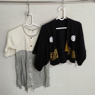 ベルメゾン(ベルメゾン)の羽織袴 ロンパース 80(和服/着物)