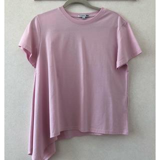 ユニクロ(UNIQLO)のUNIQLO アシメトリーシャツ(Tシャツ(半袖/袖なし))