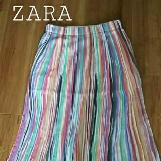 ザラ(ZARA)のZARA/ザラ ストライプ シフォンスカート XS(ロングスカート)