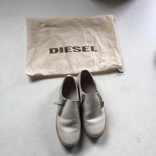 ディーゼル(DIESEL)のDIESEL レザー シューズ レディース(ローファー/革靴)