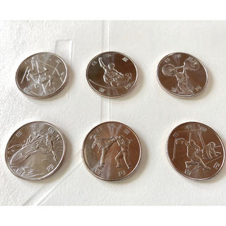 第二次発行 2020年 東京オリンピック 記念貨幣 100円6枚セット 指紋なし(貨幣)