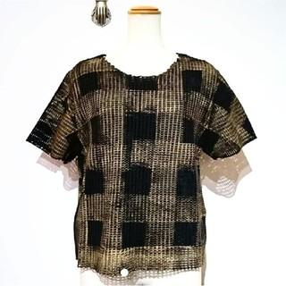 アッシュペーフランス(H.P.FRANCE)のtomokiyurita トモキユリタ  メッシュTシャツ(Tシャツ(半袖/袖なし))