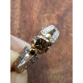 人気のブラウンダイヤです!Pt900/K18ブラウンダイヤリング 15号(リング(指輪))