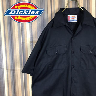 Dickies - Dickies ディッキーズ ビッグシャツ ワークシャツ 半袖 ブラック 美品