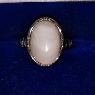 天然石マーブル.ホワイトの指輪(リング(指輪))