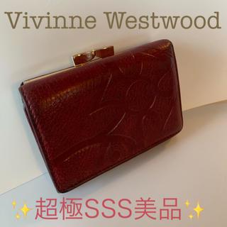 ヴィヴィアンウエストウッド(Vivienne Westwood)のヴィアンウエストウッド 折財布 がま口財布 ワインレッド(財布)