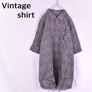 COMME des GARCONS - 古着 Vintage shirt 総柄 ペイズリー