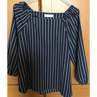 エニィスィス(anySiS)のanysis 7部丈  ネイビー カットソー(Tシャツ(長袖/七分))