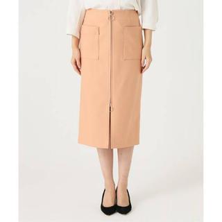 ノーブル(Noble)のNOBLE T/Cダブルクロスフープジップタイトスカート(ひざ丈スカート)