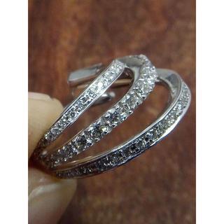 個性的!可愛らしい!K18WGダイヤリング 4.5号(リング(指輪))