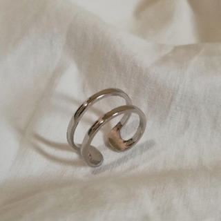 TODAYFUL - silver925 double ring