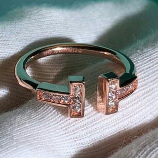 Tiffany & Co. - ❤️新品仕上げ❤️ ティファニー ダイヤ Tワイヤー リング 指輪12号