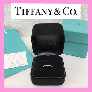 ティファニー(Tiffany & Co.)の【美品】ティファニー Tiffany プラチナ ダイヤ カーブド バンド リング(リング(指輪))