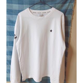 コンバース(CONVERSE)の白長tシャツ(Tシャツ(長袖/七分))