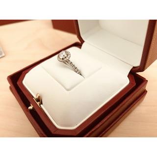 カルティエ(Cartier)の【値下】カルティエ ディスティネ ソリテール 0.58ct プラチナ 7号(リング(指輪))