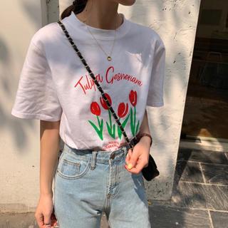 ディーホリック(dholic)の【予約販売】チューリップロゴTシャツ(Tシャツ(半袖/袖なし))