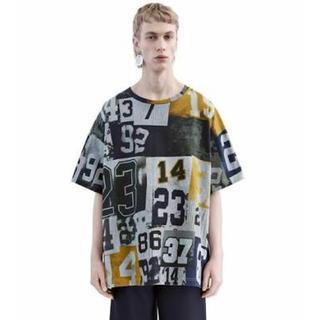 アクネ(ACNE)のAcne Studios「EWAN NUMBERS」ビッグTシャツ(Tシャツ/カットソー(半袖/袖なし))
