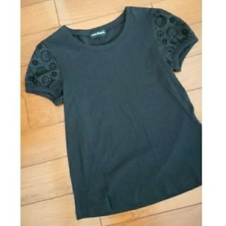 ジェーンマープル(JaneMarple)の未使用 ジェーンマープル カットソー黒(カットソー(半袖/袖なし))