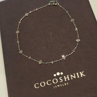 ココシュニック(COCOSHNIK)のココシュニック K10 ブレスレット 18㎝ 美品 ダイヤ ゴールドビーズ(ブレスレット/バングル)