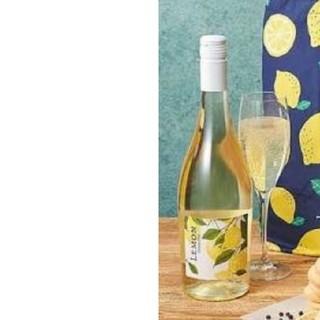 カルディ(KALDI)のカルディ レモンワインとレモン巾着袋のみ(ワイン)