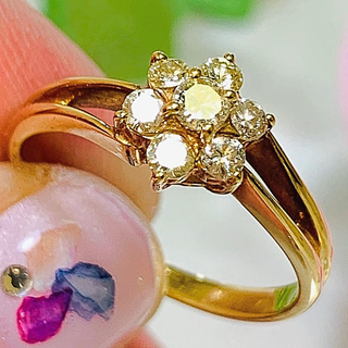 【K18 YG】ダイヤモンド  リング イエローゴールド(リング(指輪))