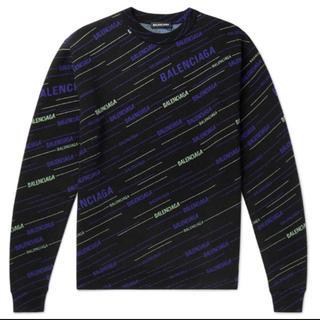 バレンシアガ(Balenciaga)のLogo-Intarsia Virgin Wool-Blend Sweater(ニット/セーター)