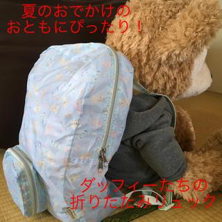 ダッフィー(ダッフィー)の夏旅のおともに!ダッフィーたちの折りたたみリュック@香港ディズニーランド(リュック/バックパック)