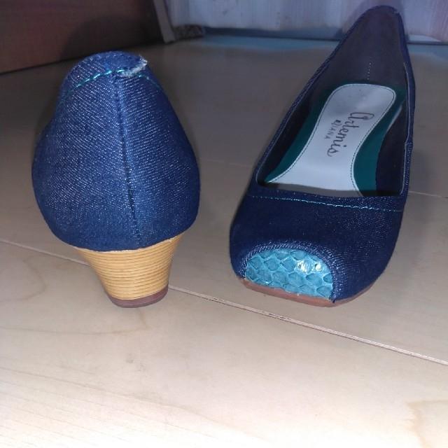 DIANA(ダイアナ)のArtemisDIANA デニム生地パンプス 22㌢ USED 大人キレイ レディースの靴/シューズ(ハイヒール/パンプス)の商品写真