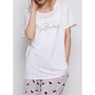 ジェラートピケ(gelato pique)の【美品♪】今期♪ジェラートピケ♡レーヨンロゴTシャツ(Tシャツ(半袖/袖なし))