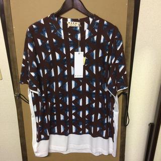 マルニ(Marni)の【新品】MARNI  プリントTシャツ 52サイズ(Tシャツ/カットソー(半袖/袖なし))