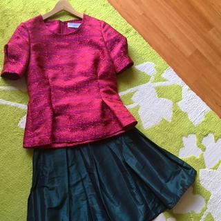 ルシェルブルー(LE CIEL BLEU)の【新品未使用】まるでドレス*LE CIEL BLEU(ルシェルブルー)トップス(シャツ/ブラウス(半袖/袖なし))