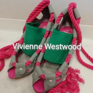 ヴィヴィアンウエストウッド(Vivienne Westwood)の★ビビアンウェストウッド★靴 ヒール 8cm★ピンク.みどり.グレー★美品★(その他)