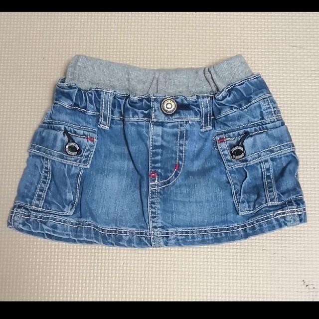 BREEZE(ブリーズ)のBREEZE  デニムスカート  90 キッズ/ベビー/マタニティのキッズ服 女の子用(90cm~)(スカート)の商品写真