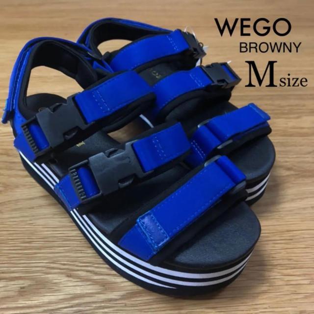 WEGO(ウィゴー)のレディース Mサイズ ⭐️新品⭐️ テープサンダル レディースの靴/シューズ(サンダル)の商品写真