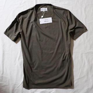 マルタンマルジェラ(Maison Martin Margiela)の新品 メゾンマルジェラ クラシックTシャツ カーキ ビッグサイズ 54(Tシャツ/カットソー(半袖/袖なし))