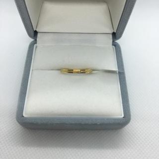 キラキラステンレスリング シンプル ピンキーリング ゴールド(リング(指輪))