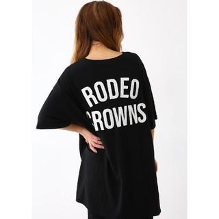 ロデオクラウンズワイドボウル(RODEO CROWNS WIDE BOWL)のブラック 星条旗BIGポケットチュニック  安全、安心の値札タグ付属の正規品です(チュニック)