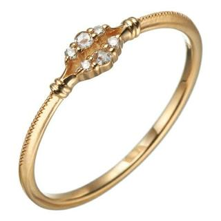 アガット(agete)のagete K18 ダイヤモンド リング ¥45,360(リング(指輪))