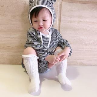 シャネル(CHANEL)の★送料無料★ロンパース 70 新生児 カバーオール オールインワン  ボーダー(ロンパース)