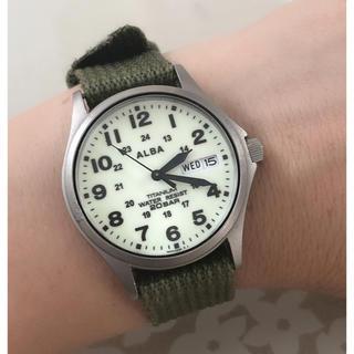 cheap for discount 2ad30 ae1ba ALBA - T081 新品☆ セイコー アルバ ソーラー QZ メンズ 腕時計 ...