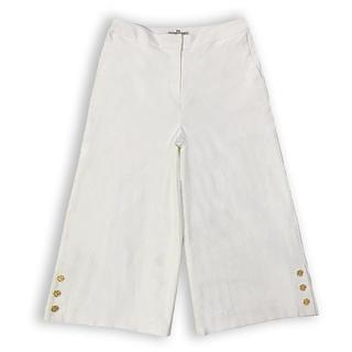 ギャラリービスコンティ(GALLERY VISCONTI)の新品 Lサイズ ガウチョパンツ サイズ3 ホワイト ワイドパンツ(カジュアルパンツ)