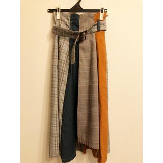 レディアゼル(REDYAZEL)のレディアゼル【美品】パッチワークスカート M(ひざ丈スカート)