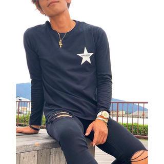 ロンハーマン(Ron Herman)のDrawing STAR Tシャツ スター Lサイズ ロンハーマン キムタク着(Tシャツ/カットソー(七分/長袖))