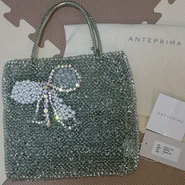 ANTEPRIMA(アンテプリマ)のシルバーワイヤーバッグ リボンモチーフ レディースのバッグ(ハンドバッグ)の商品写真