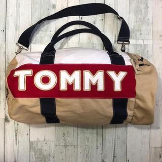 TOMMY HILFIGER - トミーヒルフィガー☆刺繍ロゴ ボストンバッグ