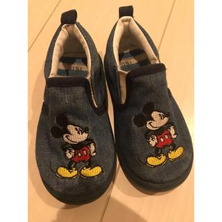 ディズニー(Disney)のミッキー☆スリッポン15cm(スリッポン)