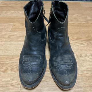 ドゥーズィエムクラス(DEUXIEME CLASSE)のDeuxieme Classe ゴールデングース ウエスタンブーツ 黒 38(ブーツ)