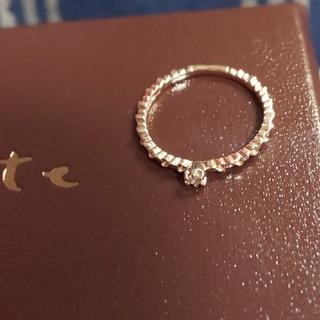 アガット(agete)のagete 10K 一粒ダイヤリング【ユーズド】(リング(指輪))