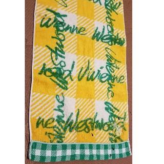 ヴィヴィアンウエストウッド(Vivienne Westwood)のvivienne westwoodフェイスタオル 黄色チェック蟻(タオル/バス用品)
