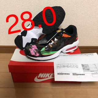 ナイキ(NIKE)の【28.0】ATMOS × NIKE AIR MAX2 LIGHT BLACK(スニーカー)